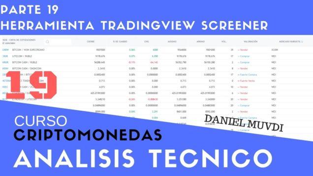 Herramienta TradingView Screener Curso aprende a invertir en Criptomonedas Análisis técnico Parte 19