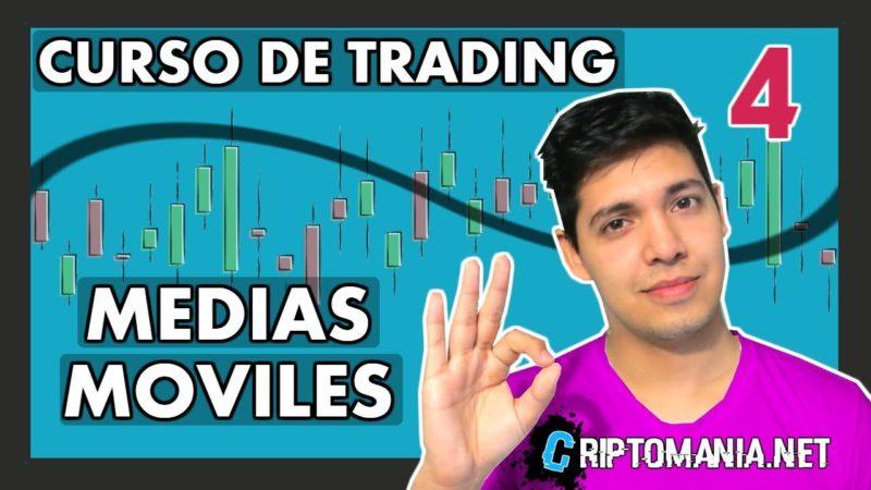 CRIPTOMONEDAS: PREDECIR EL PRECIO – [MEDIAS MÓVILES] – Curso de trading CLASE #4