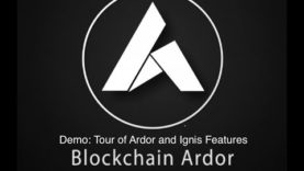 Blockchain Ardor: Demo and Tour of Ardor and Ignis Features