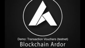 Blockchain Ardor: Demo of Transaction Vouchers- Invoicing, Exchange Withdrawals, Share Distributions