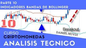 Curso aprende a invertir en Criptomonedas.  Análisis técnico Parte 10: Indicador Bandas de Bollinger
