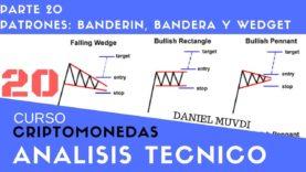 Curso de Criptomonedas Análisis técnico parte 20. Patrones en la gráfica: Banderines, Banderas, Wedgets