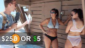 Giving Strangers $25 Bitcoin or $5 Cash (Social Experiment)