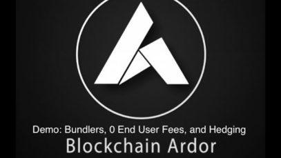 Blockchain Ardor: Demo of Custom Bundlers, 0 Transaction Fees for App Users, and Hedging