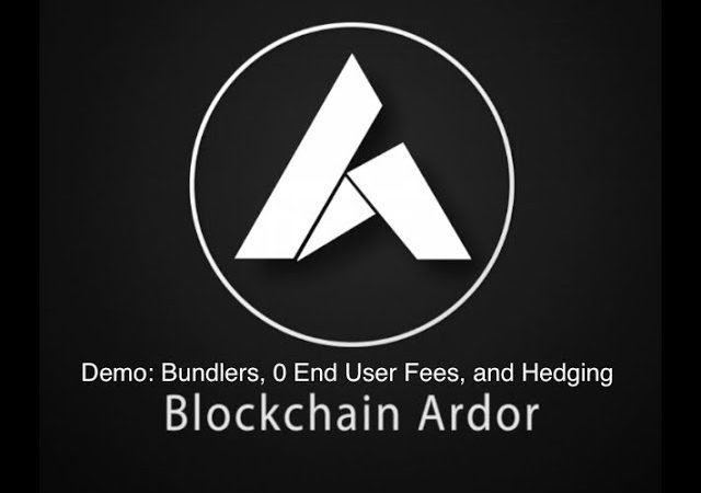 Blockchain Ardor: Demo of Custom Bundlers, 0 Transaction Fees for App Users, and Hedging