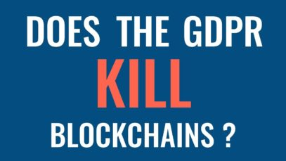 Will GDPR kill blockchains?