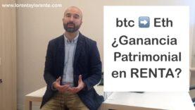 Renta: impuesto a pagar por venta o cambio de bitcoins o criptodivisas
