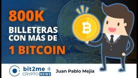 🔵 👝 800K billeteras con MÁS de 1 BITCOIN – Bit2Me Crypto News – 27.11.2020