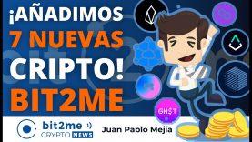 🔵 🎉 ¡Añadimos 7 NUEVAS CRIPTOMONEDAS! – Bit2Me Crypto News – 26-05-2021