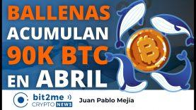 🔵 🐋 BALLENAS acumulan 90K BITCOIN en abril – Bit2Me Crypto News – 30.04.2021