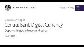 Bank of England – CBDC Webinar – Challenges and Design