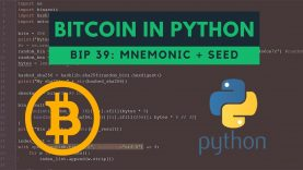 BIP39 basics: generating mnemonic and seed from entropy (bitcoin python)