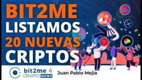 🔵 🎉 Bit2Me LISTAMOS 20 NUEVAS CRIPTOMONEDAS – Bit2Me Crypto News – 14.04.2021