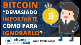 "🔵 👑 BITCOIN ""demasiado IMPORTANTE como para IGNORARLO"" – Bit2Me Crypto News – 12.04.2021"