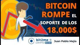 🔵 😨 BITCOIN ROMPE el soporte de los 18.000$ – Bit2Me Crypto News – 26.11.2020