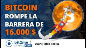 🔵 🚀  BITCOIN rompe la barrera de 16000 $ – Bit2Me Crypto News – 13.11.2020