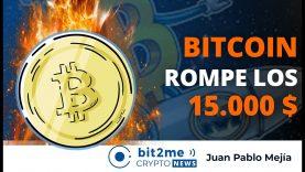 🔵🔥BITCOIN rompe los 15.000$ – Bit2Me Crypto News