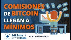 🔵 📉COMISIONES de BITCOIN en MÍNIMOS – Bit2Me Crypto News – 11.11.2020