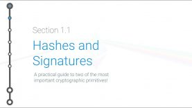 Cryptoeconomics – 1.1 – Hashes and Signatures