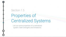 Cryptoeconomics – 1.5 – Properties of Centralized Systems