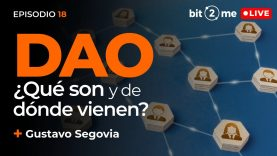 🔴 DAO ¿Qué son y de dónde vienen? + Gustavo Segovia – Bit2Me LIVE Episodio 18