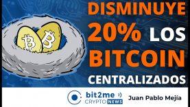 🔵 🔥 DISMINUYE 20% los BITCOIN centralizados – Bit2Me Crypto News – 01.04.2021