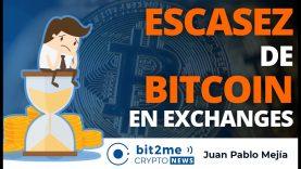 🔵 😨 ESCASEZ de BITCOIN en exchanges – Bit2Me Crypto News – 18.01.2021