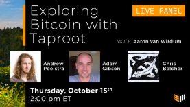 Exploring Bitcoin With Taproot: Aaron van Wirdum, Andrew Poelstra, Adam Gibson & Chris Belcher
