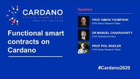 Functional smart contracts on Cardano