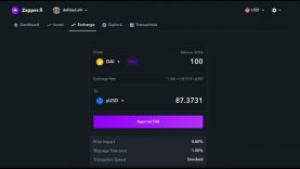 How to Save 75% Gas Swapping to yUSD with Zapper Exchange