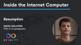 Inside the Internet Computer | Resumption
