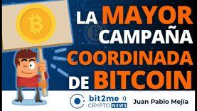 🔵 📣 La MAYOR campaña COORDINADA de BITCOIN – Bit2Me Crypto News – 01.02.2021