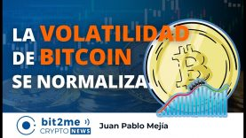 🔵📊 La VOLATILIDAD de BITCOIN se Normaliza – Bit2Me Crypto News – 06.04.2021