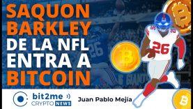 🔵 🏈 SAQUON BARKLEY estrella de la NFL entra a BITCOIN – Bit2Me Crypto News – 15-07-2021