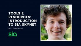 Tools & Resources: Introduction to Sia Skynet | David Vorick