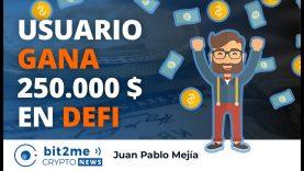 🔵 🤑  Usuario GANA 250.000$ en DEFI y Concurso 50€ – Bit2Me Crypto News – 11.09.2020