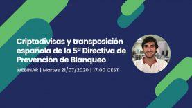 Webinar: Criptodivisas y transposición española de la 5ª Directiva de Prevención de Blanqueo